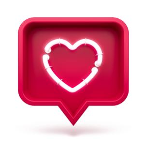 Social Media Heart